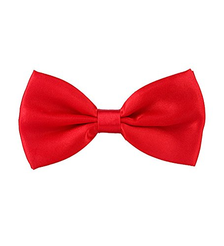 Shiny Red Bow Tie - Glossy Bow Tie In Red (Red Bow Tie)
