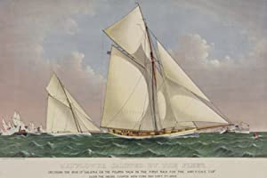 Art Poster, America's Cup Yacht Race 1886 - 20x30