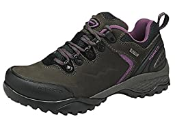 Ace Women\'s Waterproof Mountain Boots Outdoor Hiking Shoes (5.5, deep-grey)