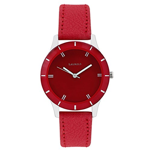 Laurels Colors Analog Red Dial Women's Watch – Lo-Colors-1003