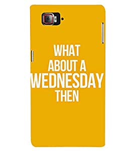 A PARTICULAR DAYS QUOTE IN AN ORANGE BACKGROUND 3D Hard Polycarbonate Designer Back Case Cover for Lenovo Vibe Z2 Pro K920