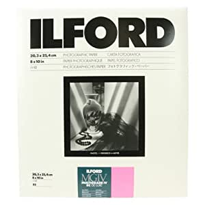 "Ilford Multigrade IV RC Deluxe Resin Coated VC Variable Contrast Black & White Enlarging Paper - 8x10"" - 25 Sheets - Glossy Surface"