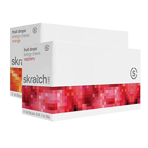 Skratch Labs Fruit Drops Energy Chews - Raspberry Single Pouch 10 Pack (Energy Lab compare prices)
