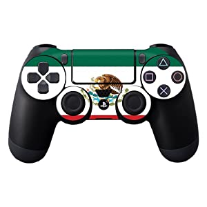 Protective Vinyl Skin Decal Cover for Sony PlayStation DualShock 4 Controller Sticker Skins Mexican Flag