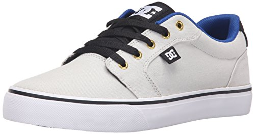DC Men's Anvil TX Skate Shoe, Grey/Black, 9.5 M US