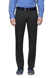 Peter England Men's Slim Fit Pants (34_Olive)