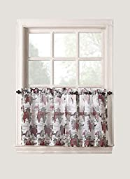 No. 918 Winecountry Kitchen Curtain Tiers, 54 by 36 inch, Merlot