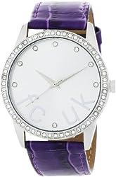 FCUK Women's FC1053SS Purple Leather Strap Stainless Steel Watch