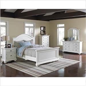 Bundle-11 Aden White Panel Bedroom Set (3 Pieces) Size: Full, Finish: Black