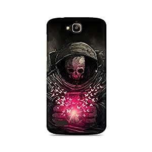 Mobicture Skull Abstract Premium Printed Case For Huawei Honor Holly