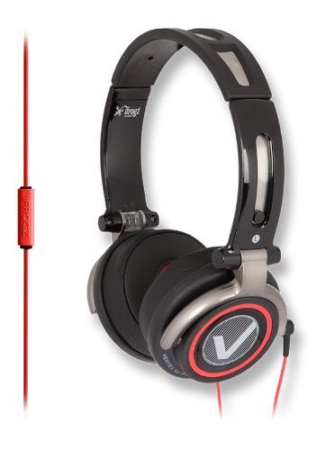 Ifrogz Vertex Headphones With Microphone - Retail Packaging - Black/Red