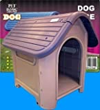 Extra Durable Plastic Dog House Home Kennel Crate Blue Indoor & Outdoor Use