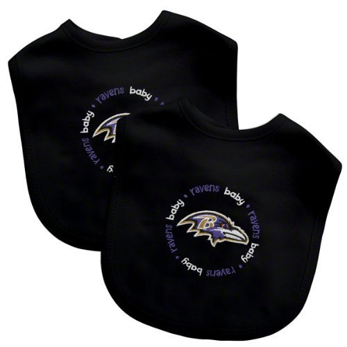 Baby Fanatic Team Color Bibs, Baltimore Ravens, 2-Count front-1026689