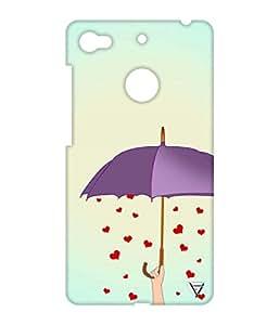 Vogueshell Falling Heart Printed Symmetry PRO Series Hard Back Case for LeEco Le 1s