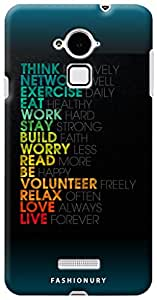 Fashionury Back Case Cover For Coolpad Note 3-Print3012