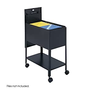 Safco Products 5362BL Extra Deep Mobile Tub File with Lock, Letter Size, Black