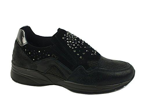 NERO GIARDINI Sneaker lacci donna PELLE LUXURY NERO BLACK A616033D 38