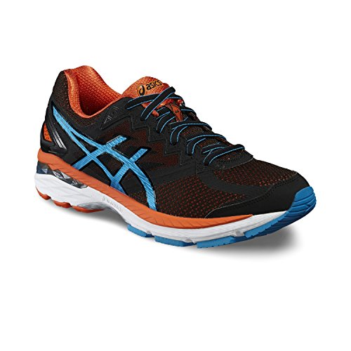 Asics Gt-2000 4, Scarpe da Corsa Uomo, Nero (Black/Blue Jewel/Flame Orange), 48 EU