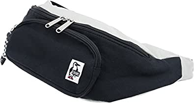 (チャムス) CHUMS ファニーパック スウェット&コーデュラナイロン ブラック/グレー(ボーダーストラップ) ボディバッグ ヒップバッグ