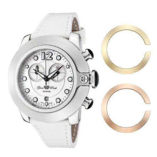 Glam Rock - 0.96.2229 - Montre Mixte - Quartz Analogique - Bracelet Cuir Blanc