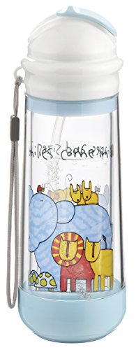 Buggygear Drinkadeux Glass Double Wall Bottle - Sky/Zoo