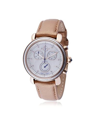 GV2 by Gevril Women's 9805 Marsala Gold/Mother of Pearl Leather Watch