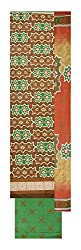 La Rose Women's Cotton Unstitched Dress Material (Light Brown and Green)