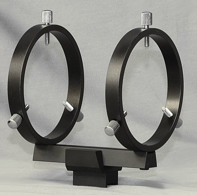 80Mm Finderscope Rings W/ Multi-Use Mounting Base