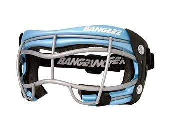 Bangerz Youth Wire Lacrosse Goggles (Carolina Silver Black Pink Padding) by Bangerz