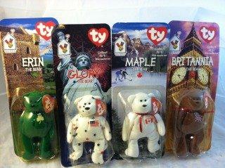 Erin, Britannia, Glory, and Maple Ty Beanie Babies Bear - 1