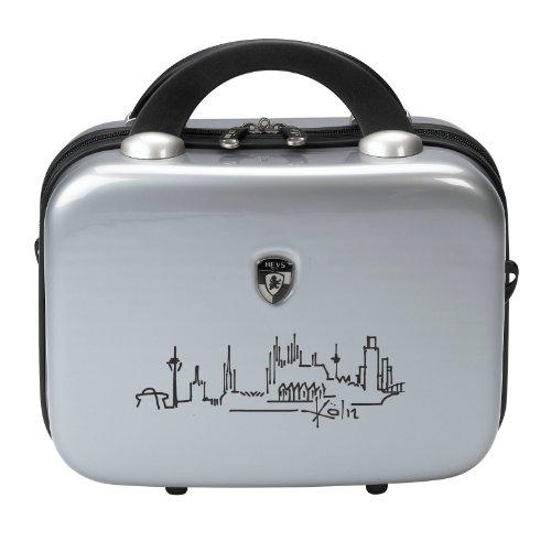 50-SALE--PREMIUM-DESIGNER-Hartschalen-Koffer-Heys-Metro-Art-Silber-Kln-Beauty-Case