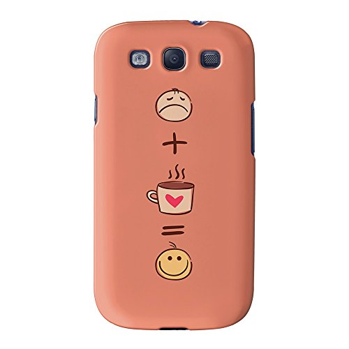 Sad Plus Coffee Is Happy Funny Quote Full Wrap High Quality 3D Printed Case, Snap-On Cover For Samsung Galaxy S3 By Ultracases