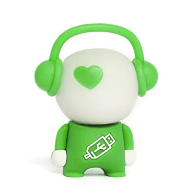 8GB White/Green 'Walker' Novelty USB Flash Drive/Memory Stick/Pen/Gift/Present by Memory Mates