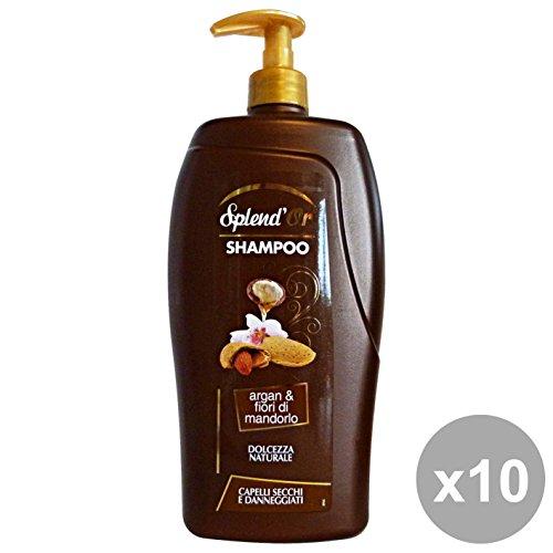 Set 10 SPLEND'OR Shampoo 1 Lt. Argan-FIORI Di MANDORLO Prodotti per capelli