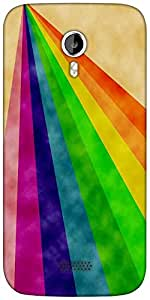Snoogg Rainbow power 2377 Designer Protective Back Case Cover For Micromax A116
