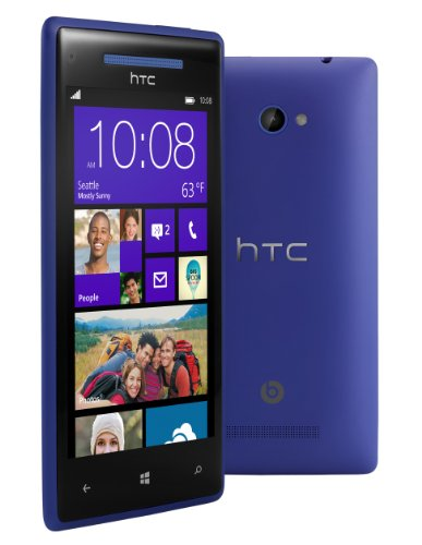 "Htc 8X 8Gb Unlocked Gsm Phone With Windows 8 Os, 4.3"" Hd Display, 8Mp Camera, 1.5 Ghz Qualcomm Dual-Core Processor, Beats Audio, Gps, Wi-Fi And Bluetooth - Blue"