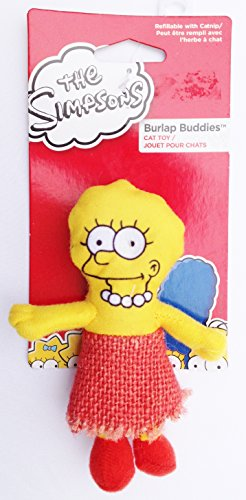 the-simpsons-lisa-simpson-cat-toy-refillable-with-catnip-4-3-4-tall