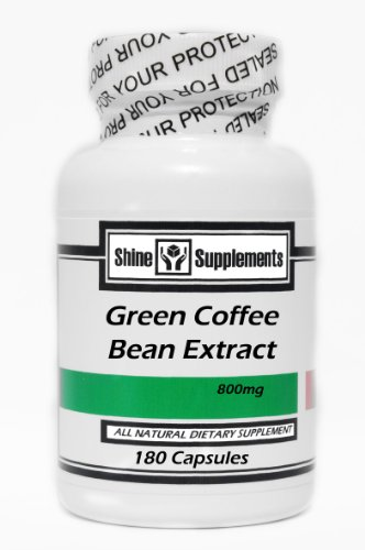 Green Coffee Bean Extract 800Mg 180 Capsules - By Shine Supplements