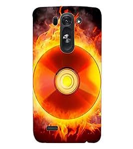 ColourCraft Flaming CD Design Back Case Cover for LG D722 K