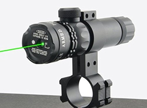 MAYMOC compatibility mode Ultra Bright Green Laser Sight Dot Scope Rifle Scope With Free Clamp support 18-21mm. can clip tube diameter 25mm. (Can Clamp compare prices)