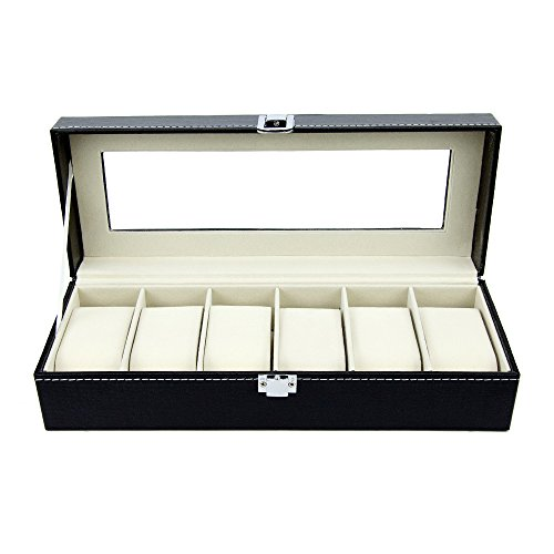 Watch Box - 6 Slot Luxury Leather Boxes for Men