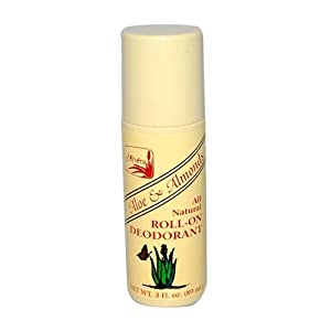 Alvera All Natural Roll-on Deodorant Aloe and Almonds - 3 Oz, 3 Fluid Ounce