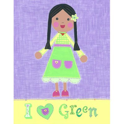 The Little Acorn Painting, I Love Green Girl - 1