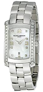 Baume & Mercier Hampton Milleis Stainless Steel Womens Watch Calendar MOA08713