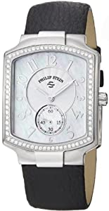 Philip Stein Women's 21D-FMOP-CB Classic Black Leather Strap Watch