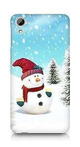 Amez designer printed 3d premium high quality back case cover for HTC Desrie 826 (Snowman)