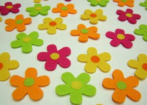 Herbstdeko Zum Geburtstag : Tischdeko Filz Blüten Blumen Filzblumen ...