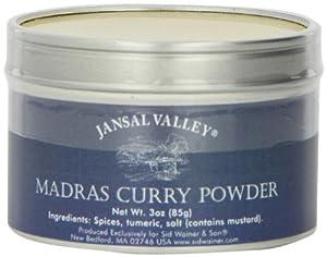 Jansal Valley Madras Curry Powder, 3 Ounce