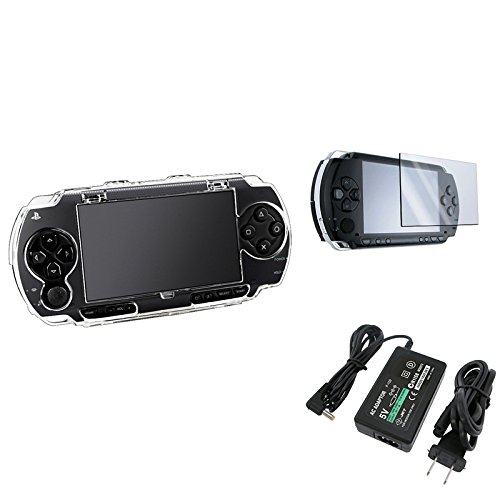 Eforcity® Crystal Hard Case Cover+Lcd Screen Protector+Travel Charger Compatible With Sony Psp 1000