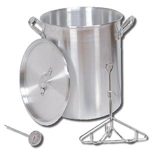 King Kooker 30PK 30-Quart Aluminum Turkey Pot with Lid, Lifting Rack and Hook from King Kooker